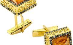 Erkekler İçin Altınbaş Altın Kol Düğmesi Modelleri